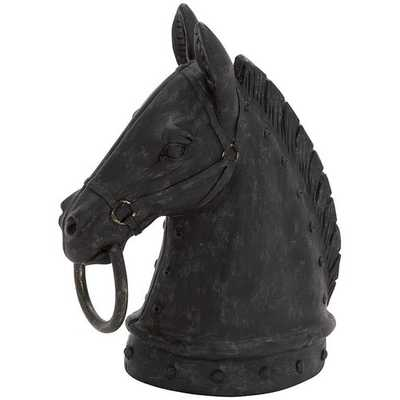 Horse Head Sculpture horse figurines make handsome accents - Home Decorators