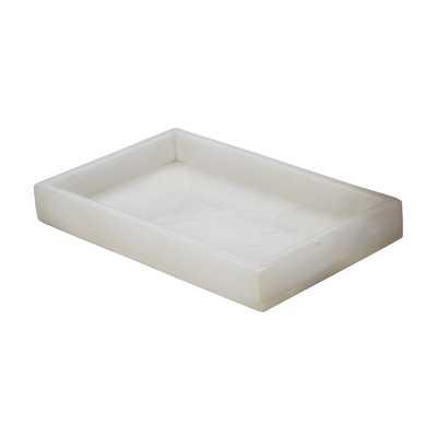 White Alabaster Vanity Tray - Rosen Studio