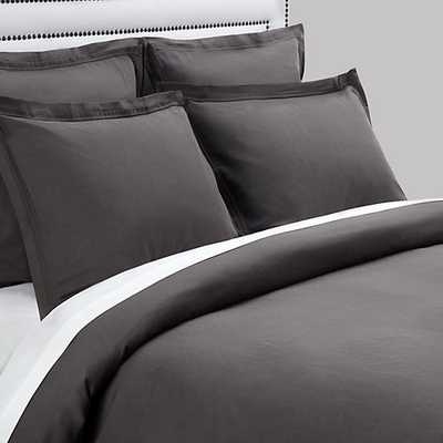 Camerson Bedding [Dual King Duvet Cover - Charcoal] - Z Gallerie