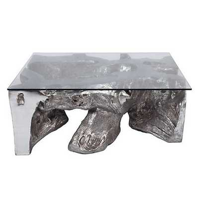 Sequoia Coffee Table [Coffee Table With Glass Top] - Z Gallerie
