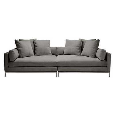 Ventura 2 PC Extra Deep Sofa [Fabric : Bella Smoke] - Z Gallerie
