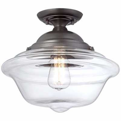 "Possini Euro Schoolhouse 13"" Wide Bronze Ceiling Light - Lamps Plus"