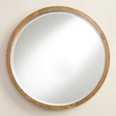 Natural Wood Round Evan Mirror - World Market/Cost Plus