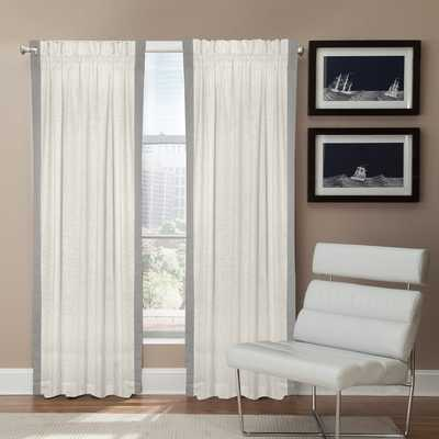 Grand Luxe Linen Central Park Rod Pocket Curtain Panel - 50' x 96' - Overstock