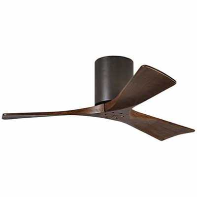 "42"" Matthews Irene 3-Blade Walnut-Bronze Hugger Ceiling Fan - Lamps Plus"