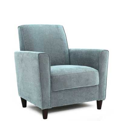 Enzo Solid-colored Accent Chair - Blue - Overstock