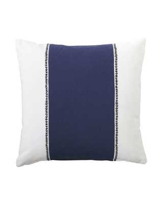 "Racing Stripe Pillow Cover - Navy - 20""SQ - Insert sold separately - Serena and Lily"