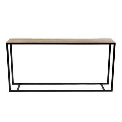 Ansted Console Table - Flat Iron/Maple - Wayfair