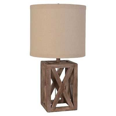 Oversized Wood Assembled Table Lamp - Target
