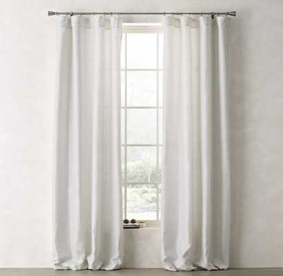 "METALLIC OPAQUE LINEN DRAPERY PANEL - Optic White/Silver - 84""L - RH Teen"