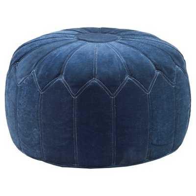 Kelsey Round Pouf Ottoman Blue - Target