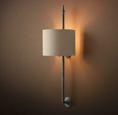 BRITTANY ARCHITECTURAL RAILING SCONCE-Aged Steel - RH