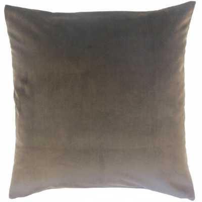 """Nizar Solid Pillow Coal - 18"""" x 18"""" - Down Insert - Linen & Seam"""