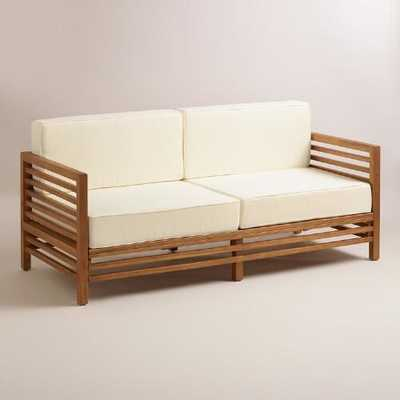 Wood Praiano Outdoor Occasional Bench - World Market/Cost Plus