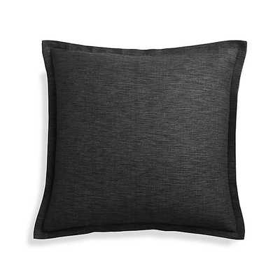 "Linden Ebony 18"" Pillow with Feather-Down Insert - Crate and Barrel"
