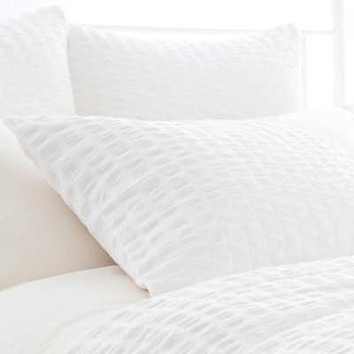 Parker White Bedding - Euro Sham - Burke Decor