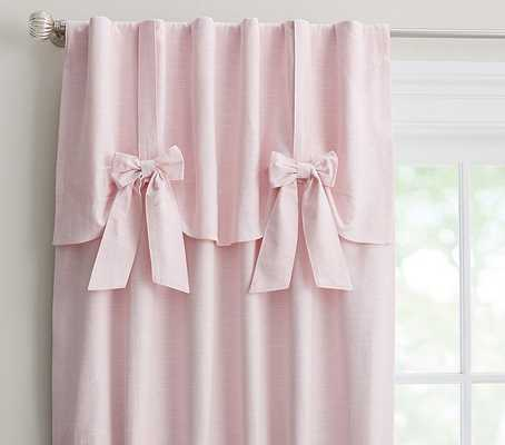 Evelyn Linen Blend Bow Valance Blackout Panel - Pottery Barn Kids