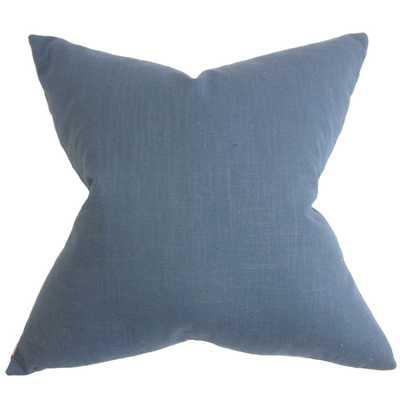 """Ninian Solid Pillow - 20"""" x 20"""" - Down insert - Linen & Seam"""