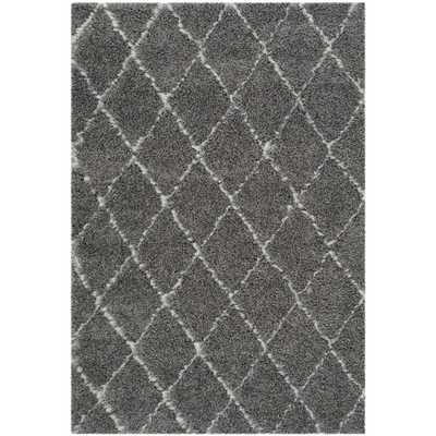 Safavieh Moroccan Shag  Rug - Grey/ Ivory - Overstock