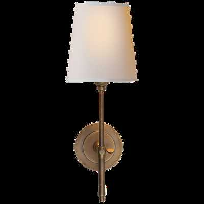 Bryant Sconce - Hand-Rubbed Antique Brass with Natural Paper, single - Circa Lighting