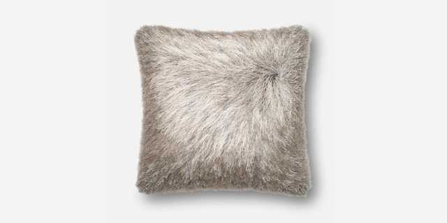 """P0245 SILVER Pillow - 22""""x22"""" with Down Insert - Loma Threads"""