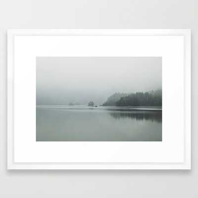 Fog - Landscape Photography- 26'' x 38''-Vector white frame with mat - Society6