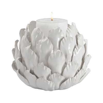 Ceramic Artichoke Candle Holder - Rosen Studio