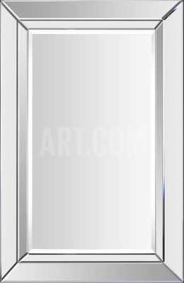 Aura All Glass Rectangular Mirror - art.com