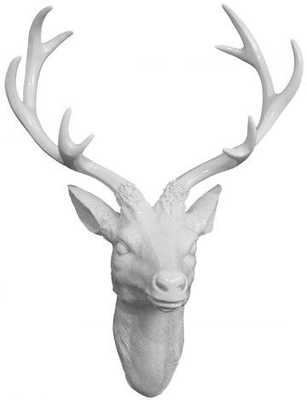 White Deer Head Plaque - Home Decorators