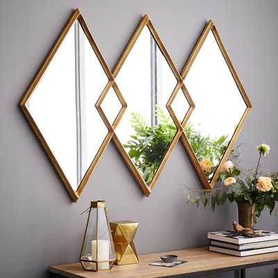 Overlapping Diamonds Mirror - West Elm