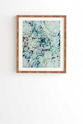 """My desert blue Wall Art - 19"""" x 22.4"""" - Bamboo frame - Wander Print Co."""