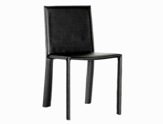 REGAL BLACK LEATHER DINING CHAIR - Lark Interiors