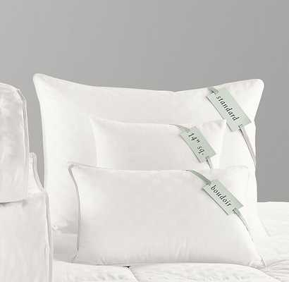 Feather-Down pillow insert-Boudoir - RH Baby & Child