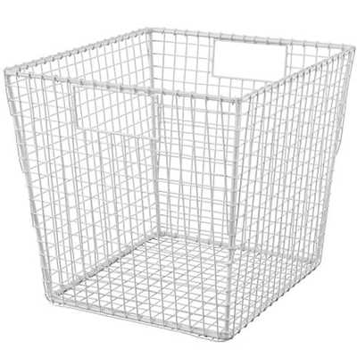 White Down to the Wire Cube Bin - Land of Nod