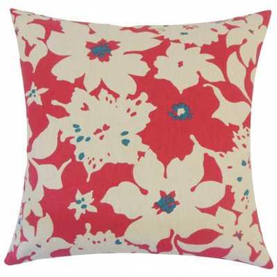 Ogima Floral Pillow - 18x18, Down Insert - Linen & Seam