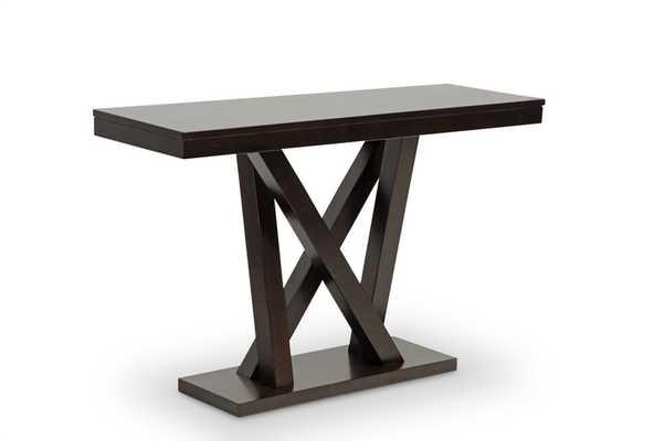 EVERDON DARK BROWN MODERN SOFA TABLE - Lark Interiors