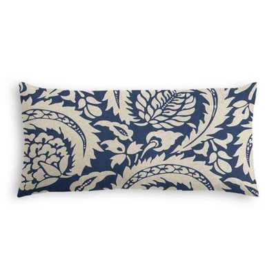 Lumbar Pillow  Lisbon - Indigo - Down Insert - Loom Decor