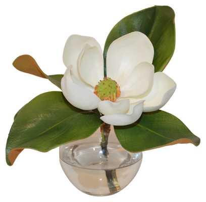 "11"" Magnolia in Vase, Faux - One Kings Lane"