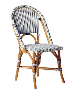 Riviera Side Chair - Navy - Serena and Lily
