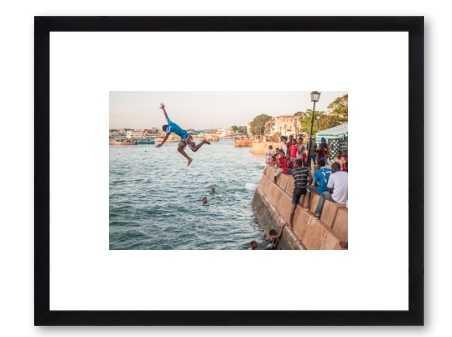 "Youth in Zanzibar - 14"" x 10"" - Black wood Frame - No Mat - Artfully Walls"