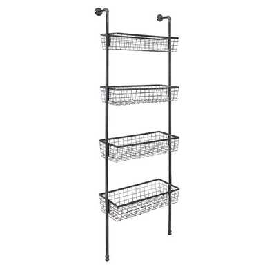 Truman 4-Basket Wall Shelf - Mercer Collection