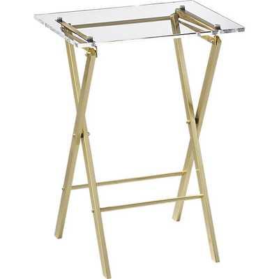 Novo acrylic folding table - CB2