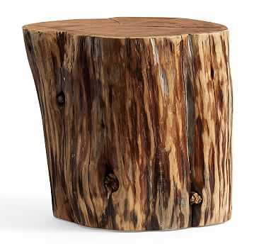 Reclaimed Wood Stump Table, Large - Pottery Barn
