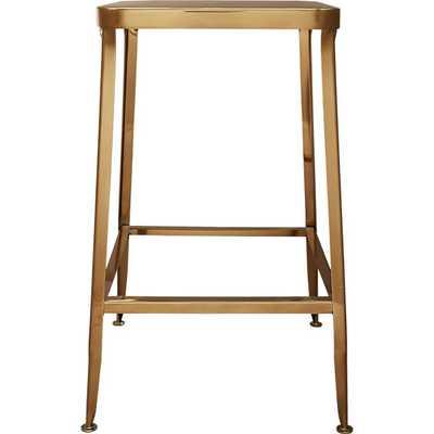 """Flint gold 24"""" counter stool - CB2"""