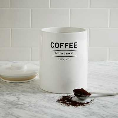 Utility Kitchen Canister - Coffee - West Elm