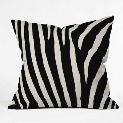 ZEBRA STRIPES Throw Pillow - 20x20- Polyester Fill Insert - Wander Print Co.