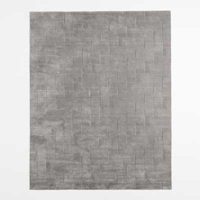 Solid Angled Basketweave Wool Rug - 9' x 12' - West Elm