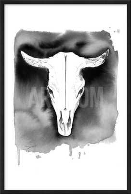 Cow skull - Framed - art.com