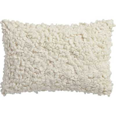 """Toodle 18""""x12"""" pillow with down-alternative insert - CB2"""
