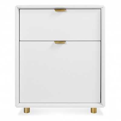 Dang File Pedestal  - White - BluDot